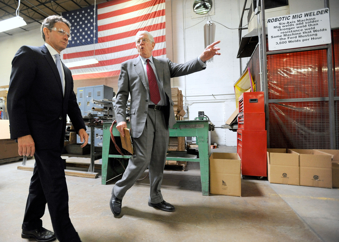 U.S. Treasury Secretary Timothy Geithner Visits Marlin Steel Wire Products