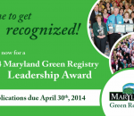 2014 Maryland Green Registry Leadership Award