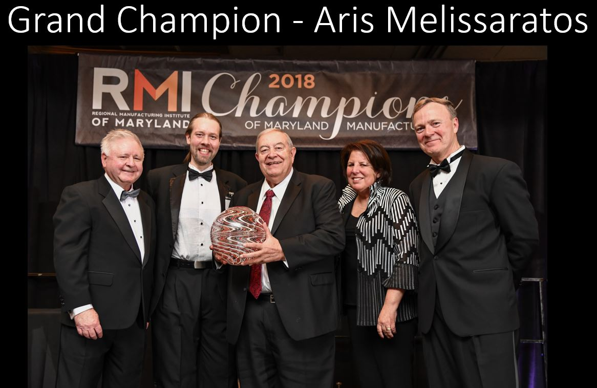 2018 Grand Champion: Aris Melissaratos